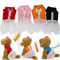 USA Comfy Mesh Pet Puppy Harness Safe Vest Lesh Dog Cat Cute Tutu Princess Dress