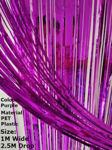Foil Fringe Tinsel Shimmer Curtain Door Wedding Birthday Party DECORATIONS