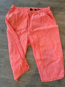 Erika & Co Capri Crop Pants Womens Peach Cotton Size 4x