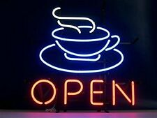 "New Coffee Shop Cafe Open Beer Bar Neon Light Sign 17""x14"""