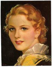 "1930s Glamour Girl art deco print 5"" x 6.25"" Ӝ"