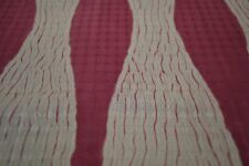 Japanese Silk pink and white wavy stripes 1443