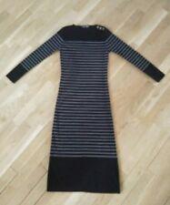 Robe pull longue rayé noir et gris COMPAGNIE MARITIME LE CAP FERRET taille M