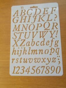 Plastic Letter Alphabet Number Layering Stencils Painting Scrap Writing Cards 11