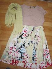 ladies sz 14 philosophy floral skirt & portmans chiffon top & scarf