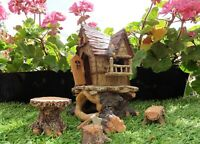 FAIRY HOUSE WOODCUTTERS COTTAGE OPENING DOOR & ACCESSORIES MAGICAL TREETOP HOME