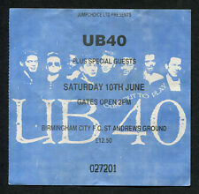 1989 UB 40 Concert Ticket Stub Birmingham UK Labour Of Love II