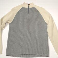 Vintage Polo Jeans Company 1/4 Zip 100% Cotton Sweater Men's Large Ralph Lauren
