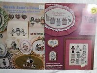 """""""Sarah Jane"""" Cross Stitch Patterns Lot of 2 Booklets From """"From The Prairie"""""""