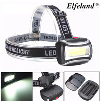 3W 600Lm LED COB Head lamp Light Headlight Torch For Camping Hiking Fishing