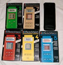 MB Microvision Spiele-Set LCD Tabletop Handheld Game & Watch Vintage