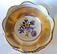HAND PAINTED LAMBERTON CONCORDE CHINA BOWL WITH HEAVY GOLD TRIM