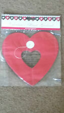 4 Meter Heart Shape Paper Valentines Banner Red 3D Banner When Opened Out