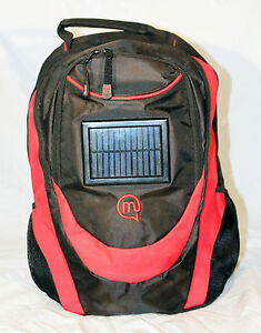Small Solar back pack rucksack including battery & connectors camping festival