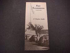 Vintage Fort Ticonderoga (Carillon) Brochure  A Visitor's Guide S2475