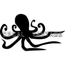 Octopus Vinyl Sticker Decal Fish Surf Island - Choose Size & Color