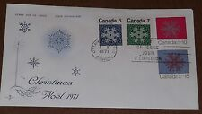 Canada 554-57 Christmas '71, Snowflakes on one RoseCraft Fdc
