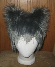 NYAN KITTY GRAY CAT HAT FUR TOTORO MONSTER ANIME COSPLAY EDM FESTIVAL BURNER WIG