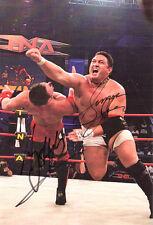 TNA Samoa Joe vs AJ Styles signed by both wrestling photo classic 8x10 w/COA