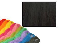 CYBERLOXSHOP PHANTASIA KANEKALON JUMBO BRAID BLACK COFFEE BROWN HAIR DREADS
