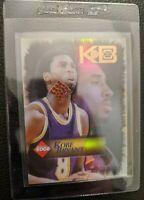 1998 COLLECTORS EDGE KB KOBE BRYANT GAME USED BASKETBALL CARD LOS ANGELES LAKERS