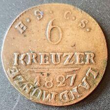 DEUTSCHLAND GERMANY ALLEMAGNE : Sachsen-Coburg-Gotha 6 Kreuzer 1827 (false coin)