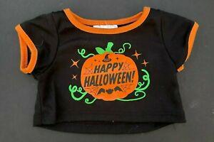 Build a Bear Full Size Teddy Bear Clothing -  New ~ Happy Halloween Tee Shirt