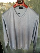 Pull a V  Paul Shark Luxury Collection,Cotone e Cashmire Pelle,Tg. S