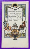 SANTINO HOLY CARD, OPERA DELLA PROPAGAZIONE DELLA FEDE -RIF. 7307