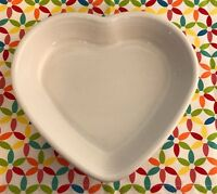 Fiestaware White Medium Heart Bowl Fiesta 19 oz Candy Dish Valentines