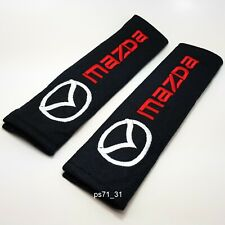 Pair of 2x Mazda seat belt shoulder pads covers buckle baby safety cushion