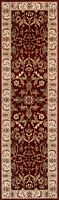 QUALITY RED CREAM Floral Traditional Classic Oriental Rug Runner 100% Wool 35%OF