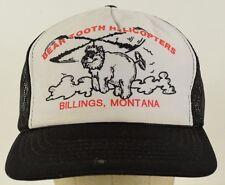 Bear Tooth Helicopters Billings Black Mesh Trucker Hat Cap Adjustable Snapback