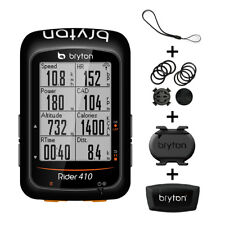 "Bryton Rider 410 GPS Bike Computer (2.3"" Display, 410T Cadence + HRM)"