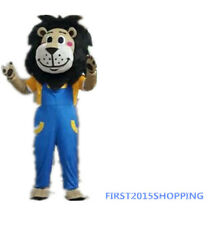 Lion Mascot Costume Halloween Fancy Dress Birthday party game cos Adults Size UK