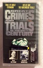 Great Crimes And Trials Of The 20th Century (Prev. Viewed VHS)Hitler Trials RARE
