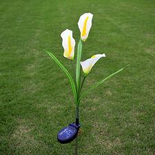 solar power led lily flower light waterproof outdoor yard garden landscape lamp