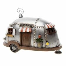 Miniature Dollhouse Fairy Garden Silver Camper/Trailer - Buy 3 Save $5