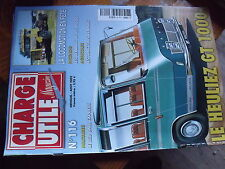 $$b Revue Charge Utile magazine N°116 Heuliez GT 1000  Red Ball Express  Renault