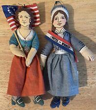 2 Vintage 1979 Hallmark Dolls - Molly Pitcher and Susan B. Anthony