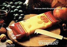 PUBLICITE ADVERTISING 126  1979   fromage Emmenthal Entremont  (2 pages)
