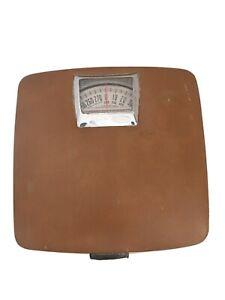 VTG Mid Century Modern Hanson Faux Saddle Leather &  Chrome Scale - Ireland MCM