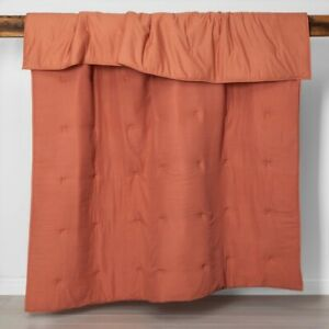 Opalhouse Solid Cotton Gauze Tasseled Comforter Set Coral Twin/TwinXL