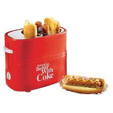 NEW Nostalgia Electrics Coca-Cola Series Pop-Up Hot Dog Toaster w/ Tray & Basket