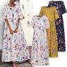 Vintage Femme Robe Dresse Col Rond Demi Manche Floral Casual en vrac Ample Plus