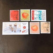 Lot de 6 timbres de Belgique années diverses - encore sur fragment! L22