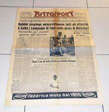 Tuttosport 6 giugno 1958 GIRO D'ITALIA Ercole Baldini Bolzano maglia rosa
