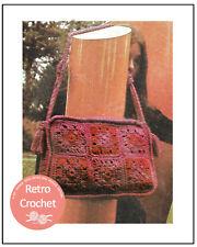 Crochet Shoulder Bag 1970s Vintage  Pattern Copy