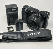 Sony Alpha A6000 24.3MP Digital Camerawith 16-50mm Lens - 3,100 Clicks!