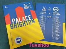 Crystal Palace v Brighton & Hove Albion M23 DERBY PROGRAMME 18/10/20! IN STOCK!!